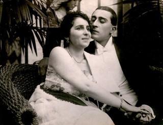 Amo Bek-Nazaryan as an actor in the pre-Soviet Tsarist Russian cinema.