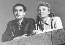 Still from the completed portion of Amo Bek-Nazaryan's The Second Caravan (1950) of Artyom Karapetyan with Lidochka Dranovskaya.