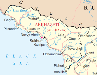 UN Map of Abkhazia, 2014