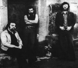 Meschyan with the other members of the banned dissident rock group, The Apostles, 1976.