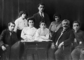 Khachaturyan Family Photo, Tbilisi, 1913.  Aram is in the center.