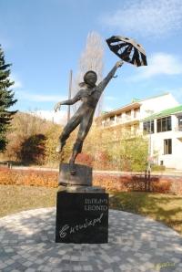 Statue of Yengibaryan in Tsakhkadzor, Armenia