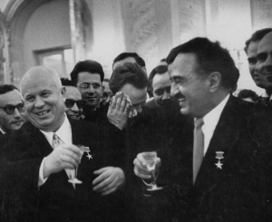 Khruschev and Mikoyan