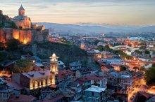 Simon Roberts, Tbilisi at dusk.