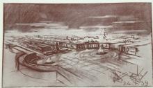 Conceptual sketch of Republic Square, 1939