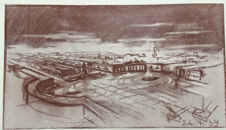Conceptual sketch of Republic Square, 1939