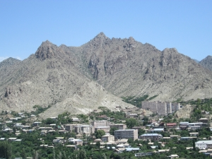 Meghri city skyline from the St. Sarkis Golgotha Church