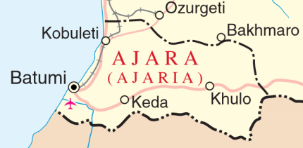 UN Map of Ajara in Georgia, 2014