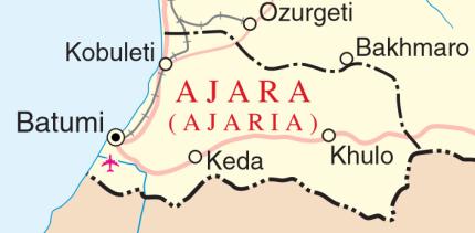 UN Map of Ajara in Georgia, 2014
