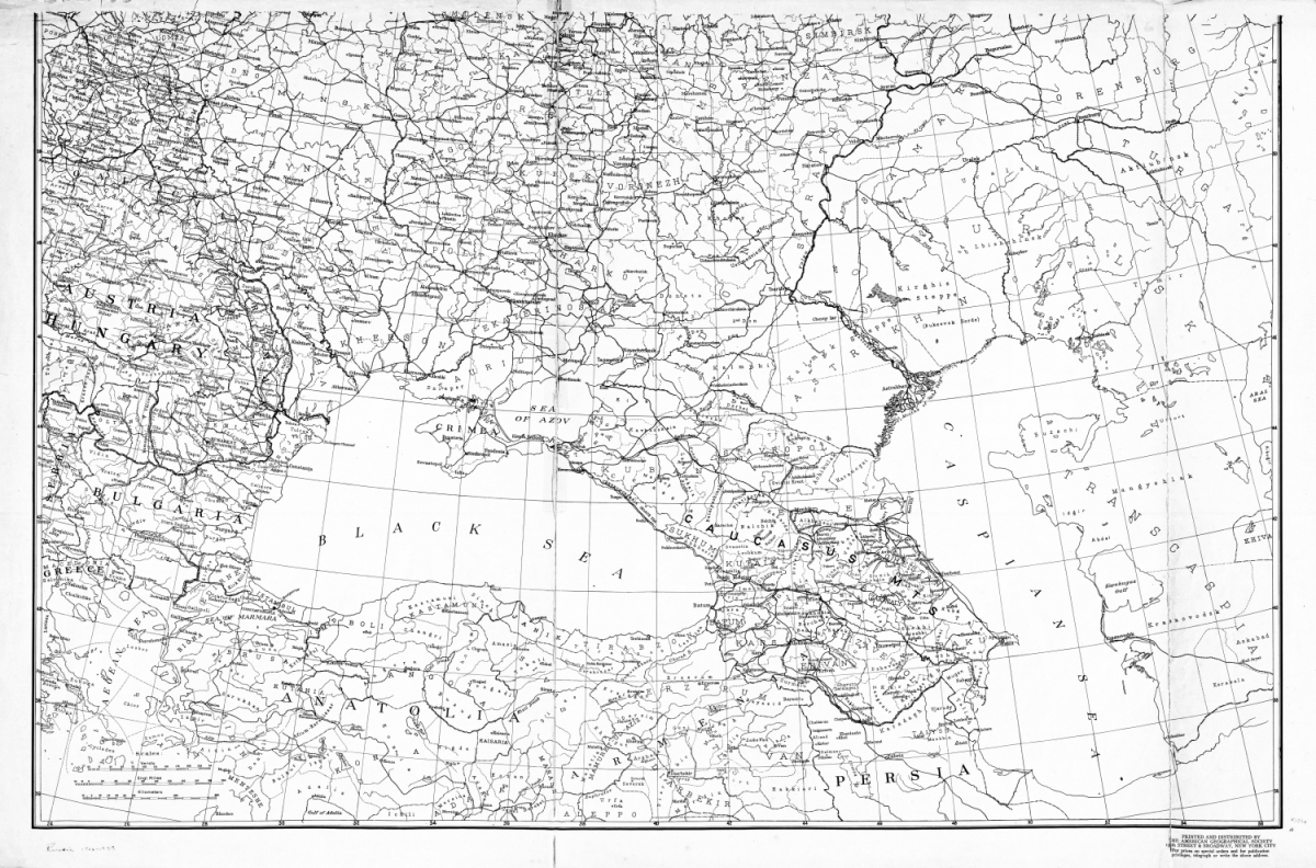 American Map Of Southern Russia Ukraine The Caucasus And - Us map southern region